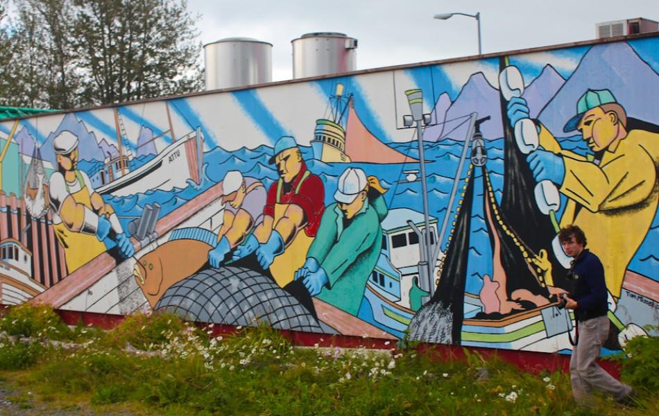 Mural in Seward, AK