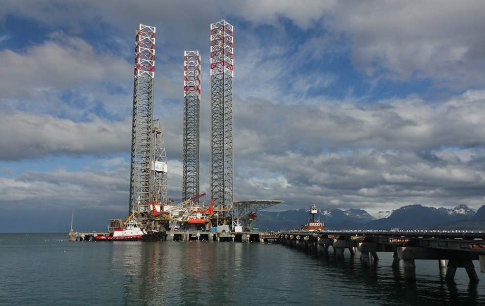 Jackup Offshore Drill Rig in for Repairs