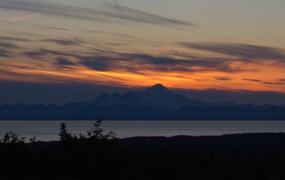 The Volcano, Mount Iliamna, Across the Cook Inlet
